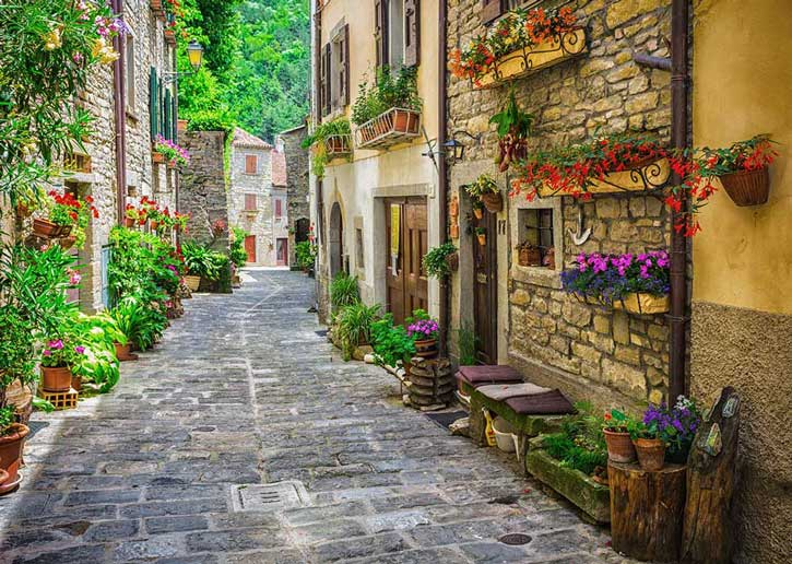 Small town in Tuscany